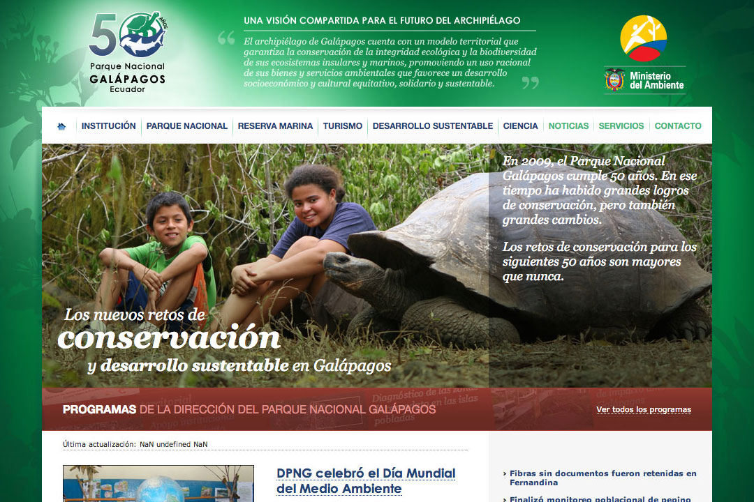 Website of the Galapagos National Park.
