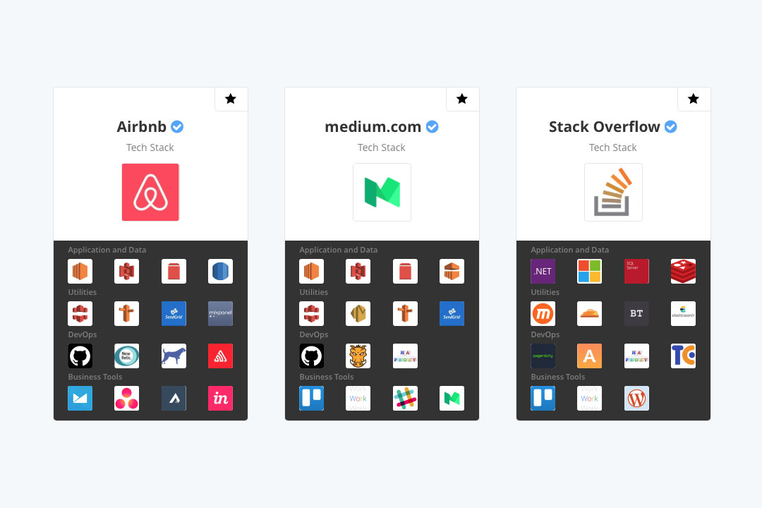 I am stack-agnostic, but always interested in the best tech for the best user experience. (Image: stackshare.io)