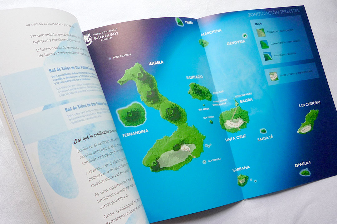 Environmental education publication for local communities in Galapagos.